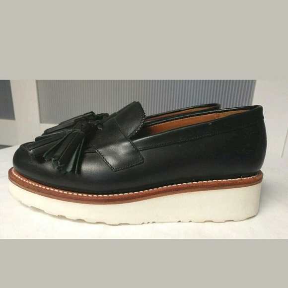 62b35e1f2af Grenson Shoes - GRENSON Juno Leather Frill Loafers UK(Grenson) 3.5